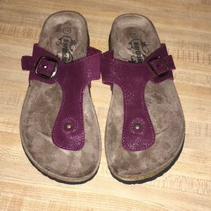 Northside Bindi Purple Glitter Sandals